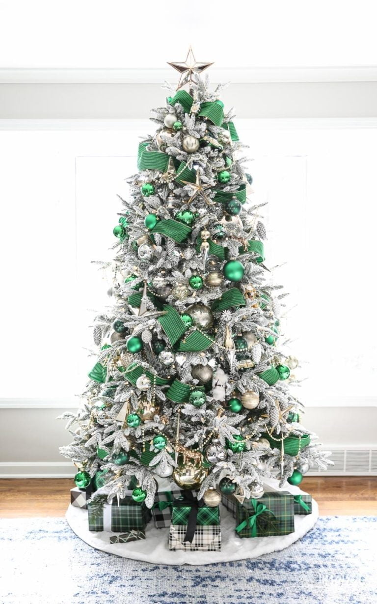 Green and White Christmas Tree