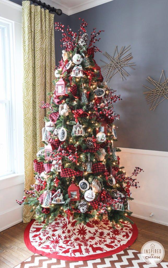 Plaid Theme Christmas Tree
